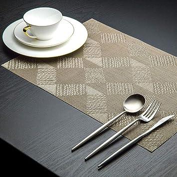 Ayue Set De Table Set De 6 Sets De Table En Vinyle Tisse Lavable