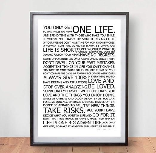 Amazon.com: LIFE MANIFESTO POSTER, El mundialmente famoso ...