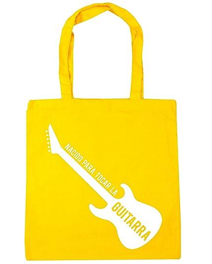 HippoWarehouse Nacido Para Tocar La Guitarra (Eléctrica) Bolso de Playa Bolsa Compra Con Asas para gimnasio 42cm x 38cm 10 litros capacidad: Amazon.es: ...