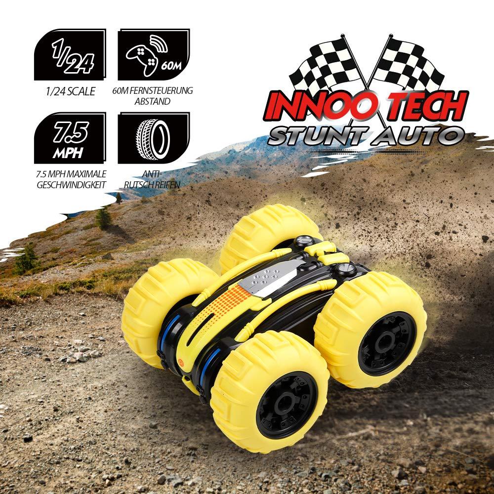 Innoo Tech Ferngesteuertes Auto Wasserdicht RC Stunt Auto Land und Wasser 2 in 1 wiederaufladbares Amphibien Fahrzeug 1//24 Skala Spielzeug 360/° Drehung 4WD 2.4Ghz Fernsteuerung