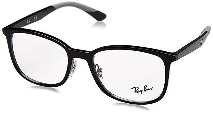 c5666bc1996 Amazon.com  Ray-Ban Men s 0rx7142 No Polarization Square ...