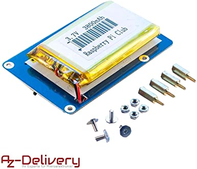 AZDelivery Portable de batería Power Pack para Raspberry Pi con ...