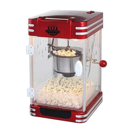 XXL Máquina de palomitas popcorn maker palomitas automática olla de acero (Cuchara dosificadora, pies
