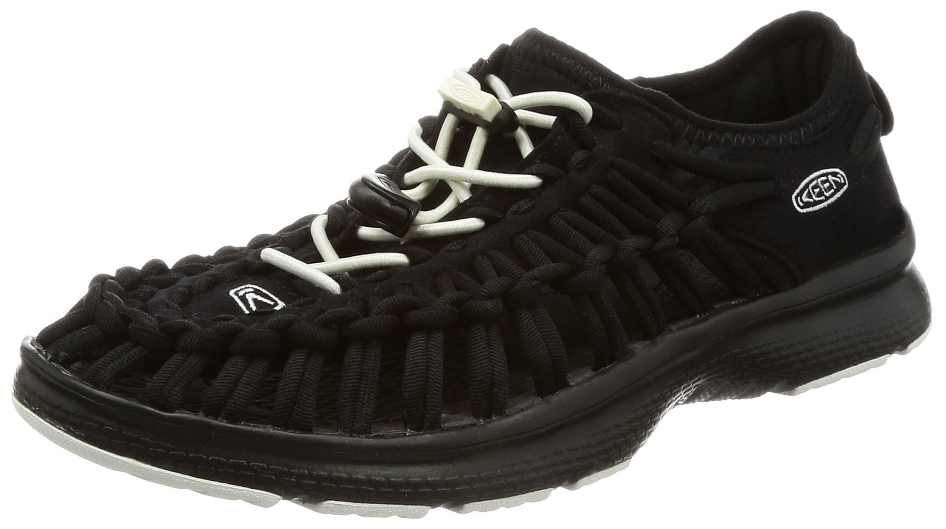 KEEN Uneek O2 Sandal - Women's Black/White, 6.0