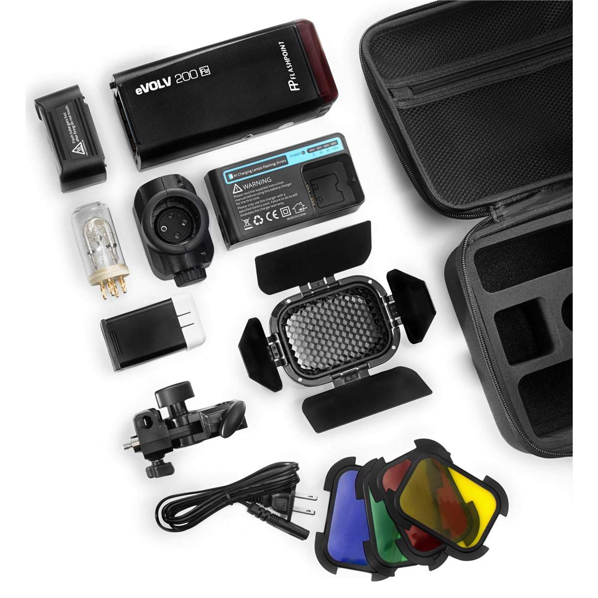 Flashpoint eVOLV 200 R2 TTL Pocket Flash with Barndoor Kit by Flashpoint