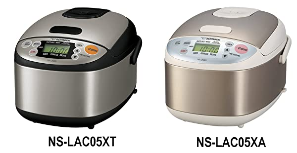 Zojirushi NS-LAC05XT Micom 3-Cup Rice Cooker and Warmer, Black and Stainless Steel Best Japanese Rice Cookers