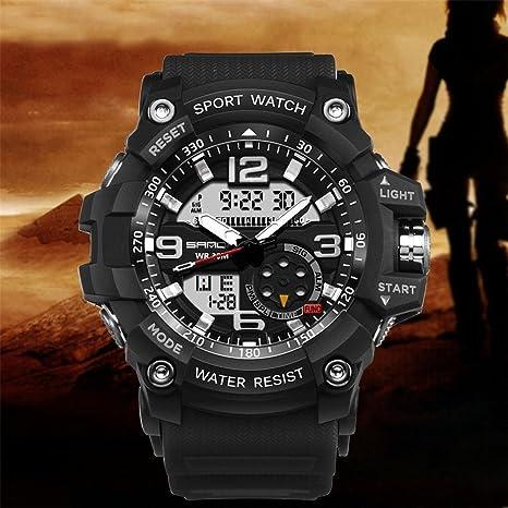 iBasteES Fitness Smart Watch Sanda Marca de Lujo para Hombre Reloj Deportivo Digital Reloj G Militar