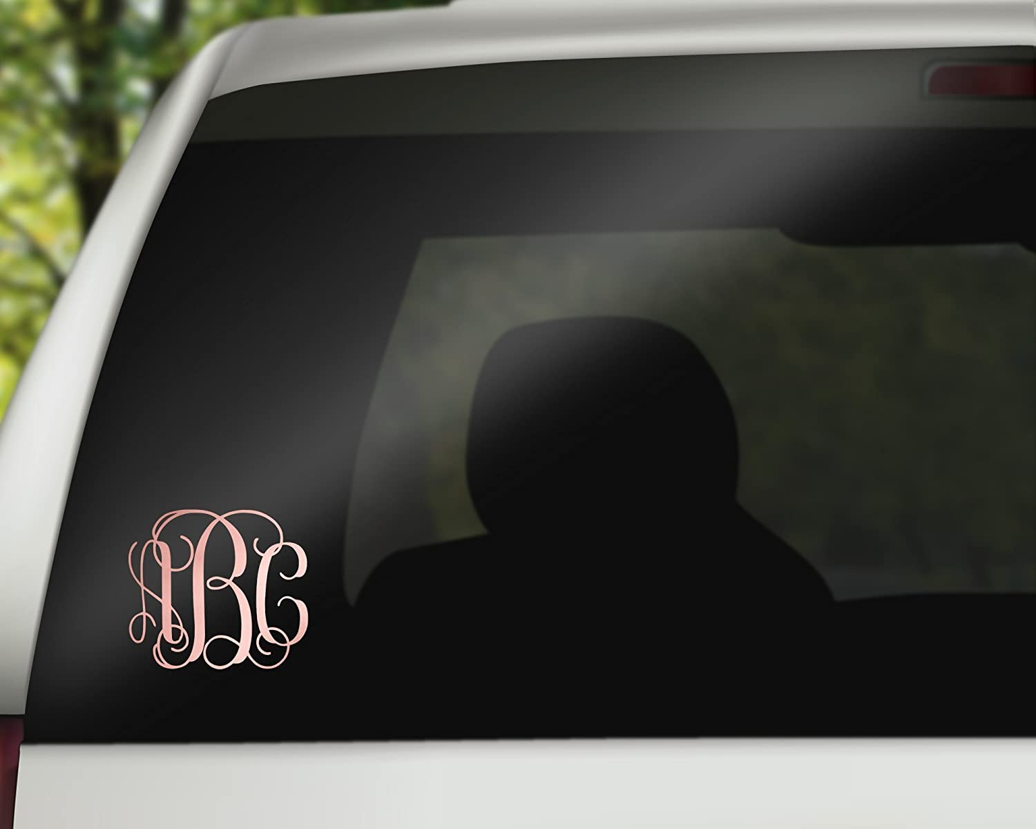 Amazon com rose gold vinyl custom monogramed large decal choose your style 11 5 handmade
