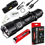 Klarus XT11GT 2000 Lumens CREE XPH35 HD E4 LED 18650 Tactical USB Rechargeable Flashlight with 1 x 3100mah Battery,USB Charging Cable,Holster,O-ring and SKYBEN USB Light (XT11GT)