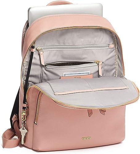 TUMI – Varek Hudson Leather Laptop Backpack – 14 Inch Computer Bag for Men and Women – Blush