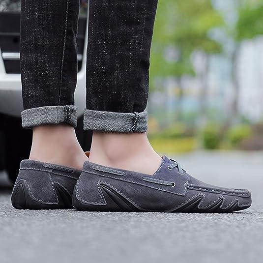 Yaer Zapatos de Gamuza de Ante de Los Hombres, Slip Casual de Todo el Partido en Los Zapatos Mocasines del Barco de Conducción: Amazon.es: Zapatos y ...