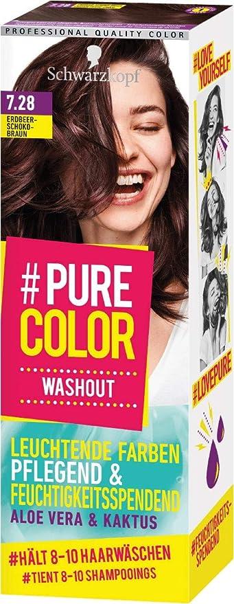 Schwarzkopf #Pure Color Washout 7.28 - Tinte para el cabello (1 unidad, 60 ml), color marrón