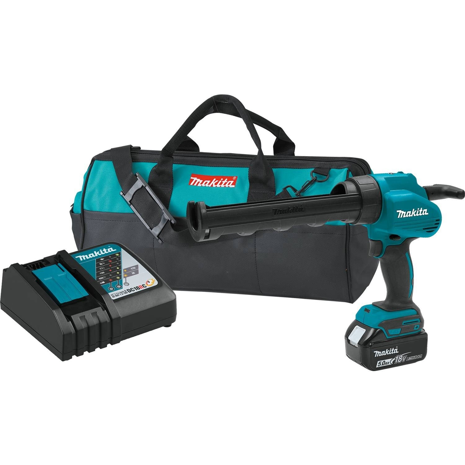 Makita XGC01T1 18V LXT Lithium-Ion Cordless 10 Oz. Caulk & Adhesive Gun Kit (5.0Ah),