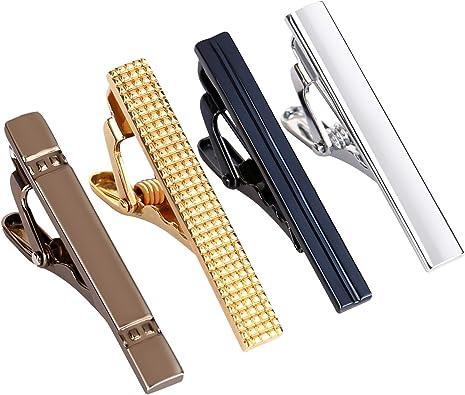 Glass Striped Adjustable Tie Clip Men/'s Vintage Tie Bar Excellent Design