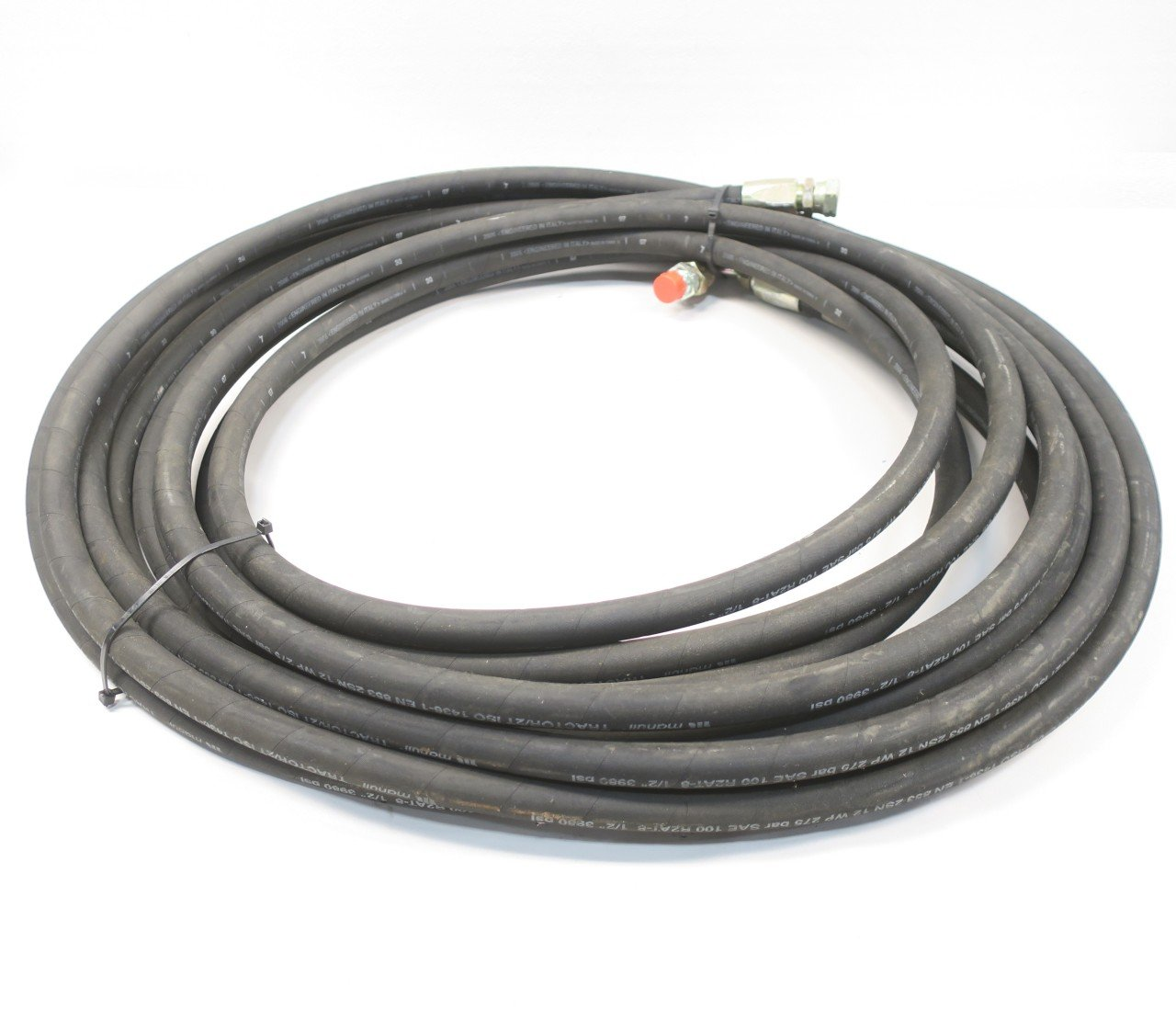 NEW MANULI R2AT-8 TRACTOR/2T MALE / FEMALE 50FT 3980PSI HYDRAULIC HOSE D585876