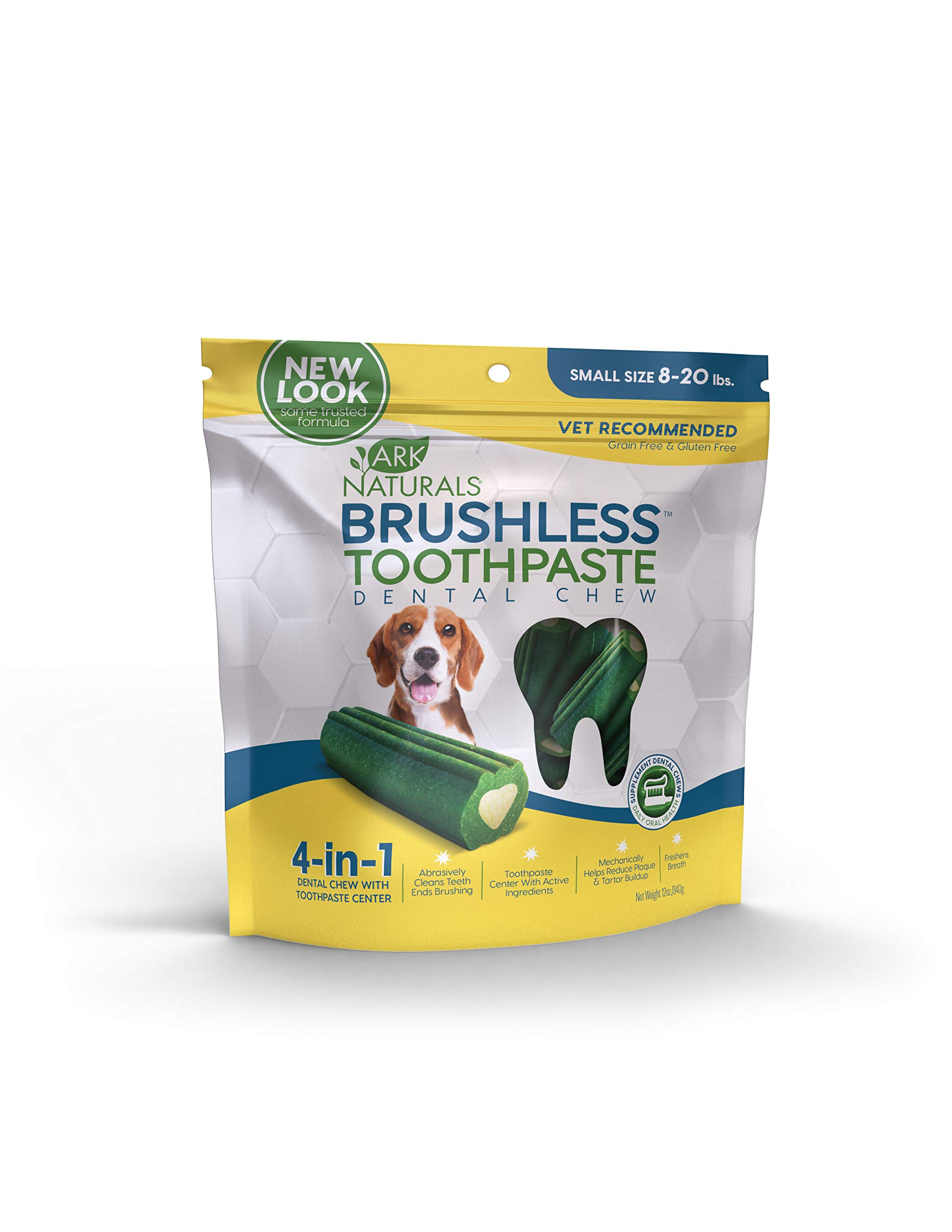 dog supplies online ark naturals brushless toothpaste, vet recommended natural dental chews for dogs, plaque, tartar and bacteria control