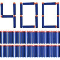Yosoo 400pcs en mousse souple Fléchettes Dart Bullet pour Nerf N-Strike Elite Series Blasters 7.2x 1.3cm–Bleu