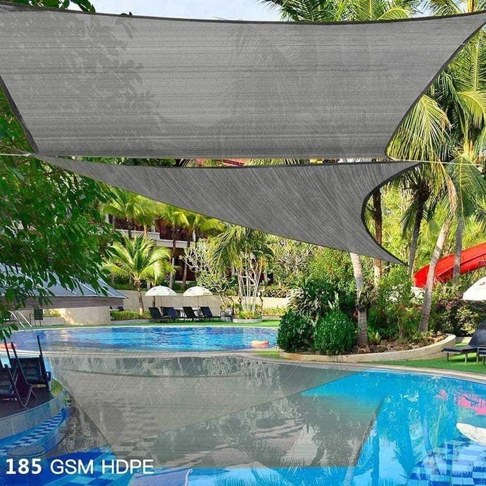 Vela Ombreggiante UV - Triangolo Rettangolare HDPE 2x2x2m - Balcone Da Giardino a Baldacchino Con Protezione Solare,gray Gray