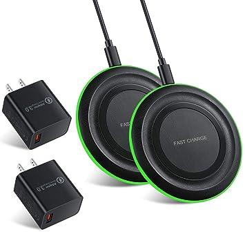 Amazon.com: Cargador inalámbrico, Eversame Ultra Slim 10 W ...
