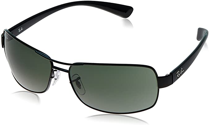 058a118944 Image Unavailable. Image not available for. Colour  Ray Ban Rectangle  Sunglasses (Black) ...