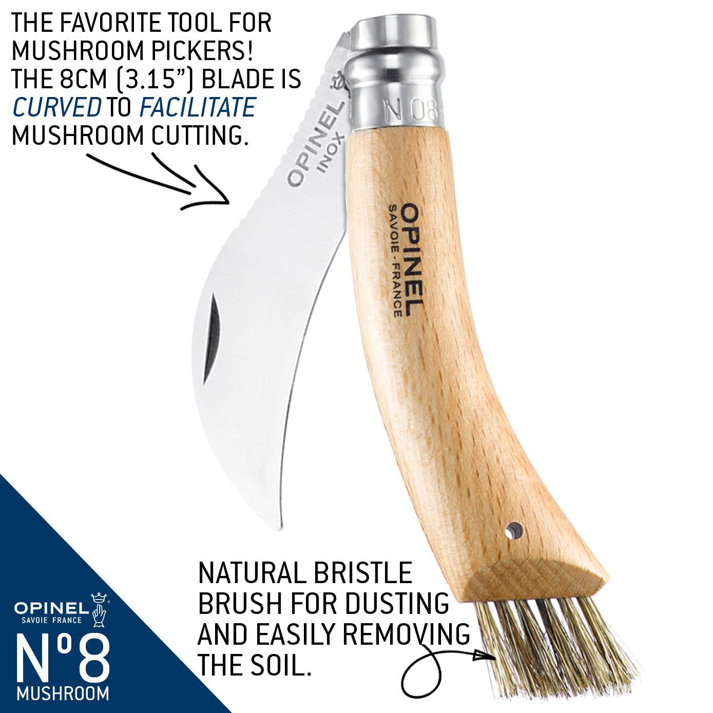 Opinel Beechwood Handle Mushroom Knife