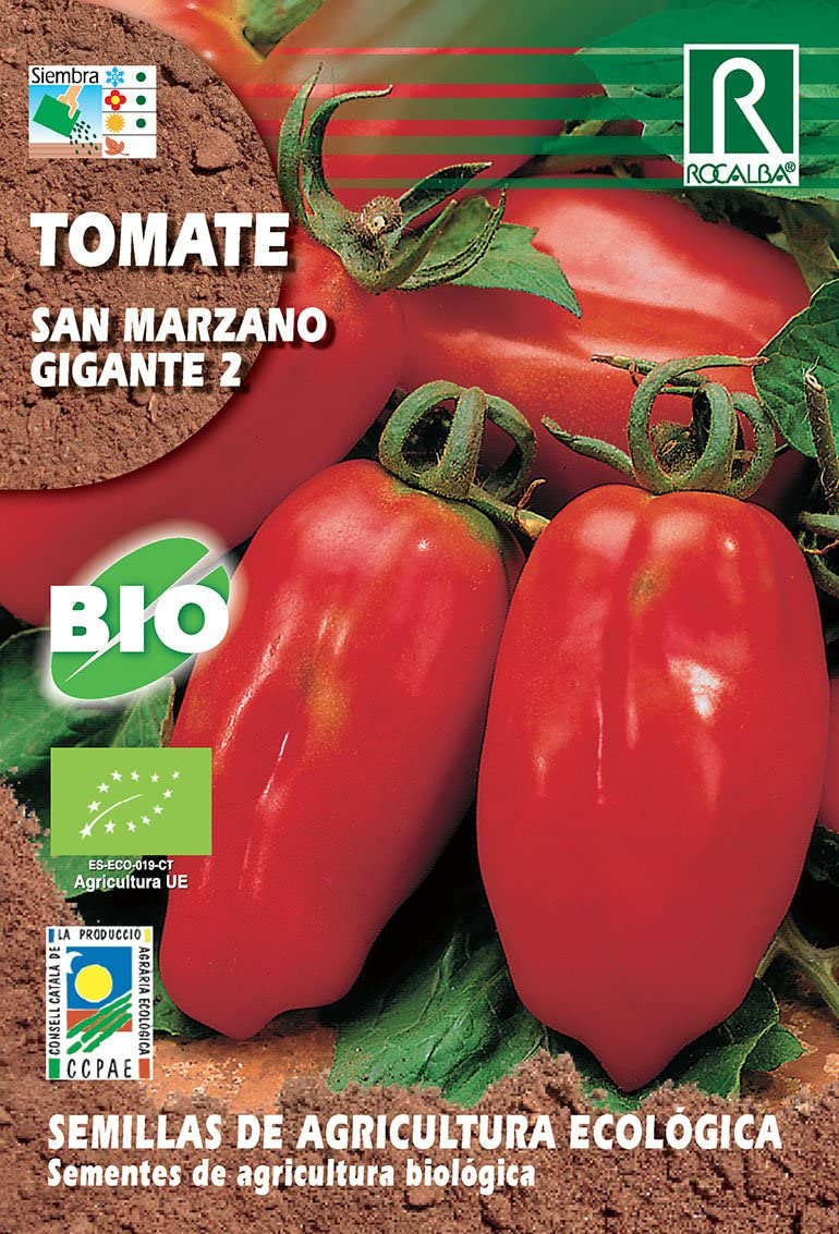 Semillas ECOLOGICAS Tomate San Marzano Gigante II 0.5 gr.: Amazon ...
