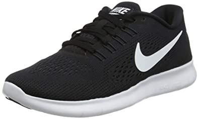 cf670fff445f4 Image Unavailable. Image not available for. Color  Nike Free RN Black  Anthracite White Womens ...