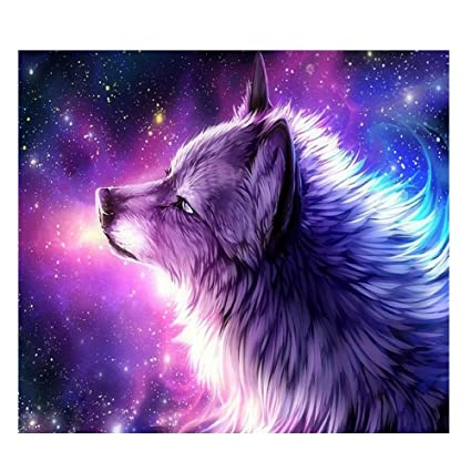Amazon.com: AFfeco Purple Wolf 5D Diamond DIY Painting Kit Home Decor Craft  35 X 30cm: Home U0026 Kitchen