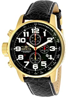 15cdda212ae Invicta Men s  Force  Quartz Stainless Steel and Leather Casual Watch
