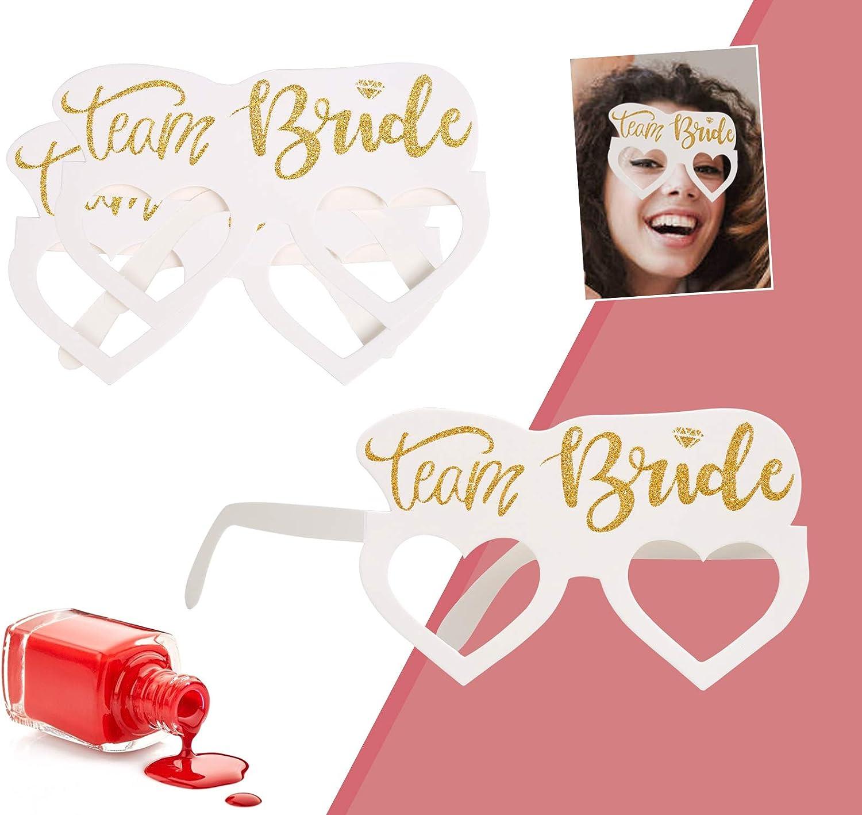 SULOLI Team Bride Paper Eyeglasses Bride to Be Wedding Party Eyewear for Wedding Party 16 Pieces