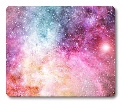 amazon com nebula rectangle mousepad by smooffly mouse pad pink