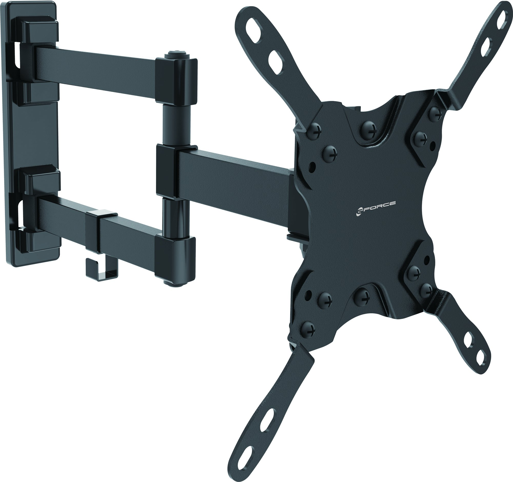 GForce Full Motion TV Wall Mount for Most 13'' - 42'' Inch LED, LCD and Plasma TVs - VESA Compatible - 20Kg/44LBS Weight Capacity - Black by GForce
