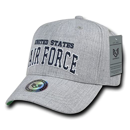 f68ebc9d2f7 Amazon.com  Rapiddominance Air Force Heather Grey Military Cap  Sports    Outdoors