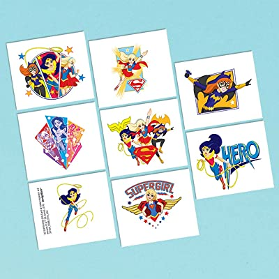 amscan Tattoo Favor, DC Super Hero Girls Collection, Party Accessory One Size, Multicolor: Toys & Games