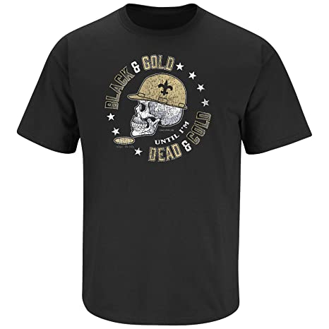 Amazon.com   NOLA Football Fans. Black and Gold  Til I m Dead and ... b06abfabf