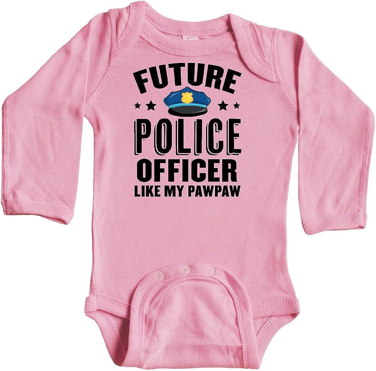 inktastic Future Police Officer Like My Pawpaw Long Sleeve Creeper