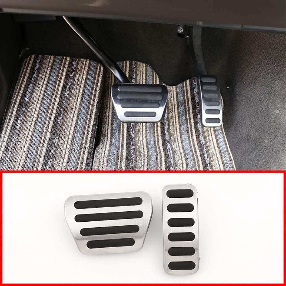 YIWANG Stainless Steel Car Pedals Automatic Brake Pedal Accelerator 2Pcs for Land Rover Range Rover Sport,for Discovery 5,for Range Rover Vogue Pedal Set