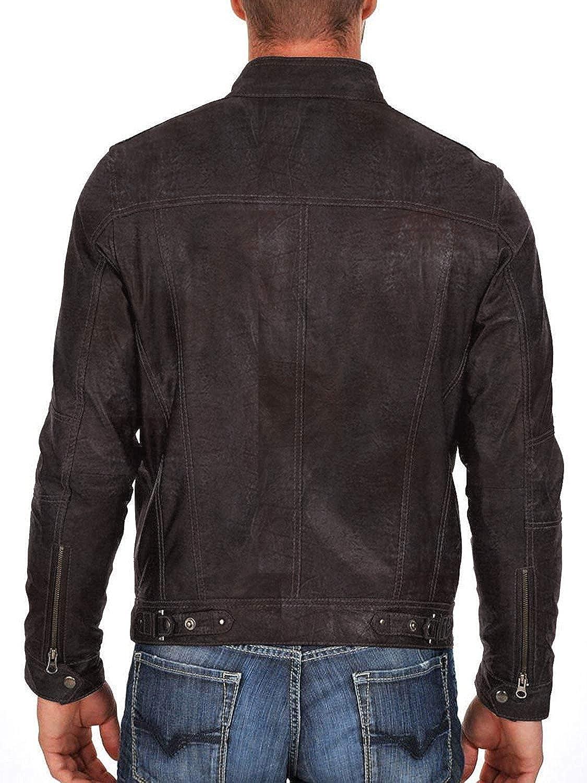 1501254 Laverapelle Mens Genuine Lambskin Leather Jacket Black, Racer Jacket