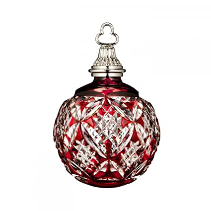 Image Unavailable. Image not available for. Color: Waterford Annual Red  Cased Ball Crystal Christmas Ornament - Amazon.com: Waterford Annual Red Cased Ball Crystal Christmas