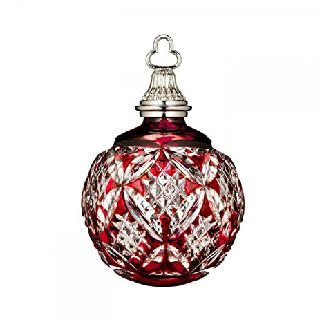 Waterford Crystal Christmas Ornaments.Waterford Annual Red Cased Ball Crystal Christmas Ornament