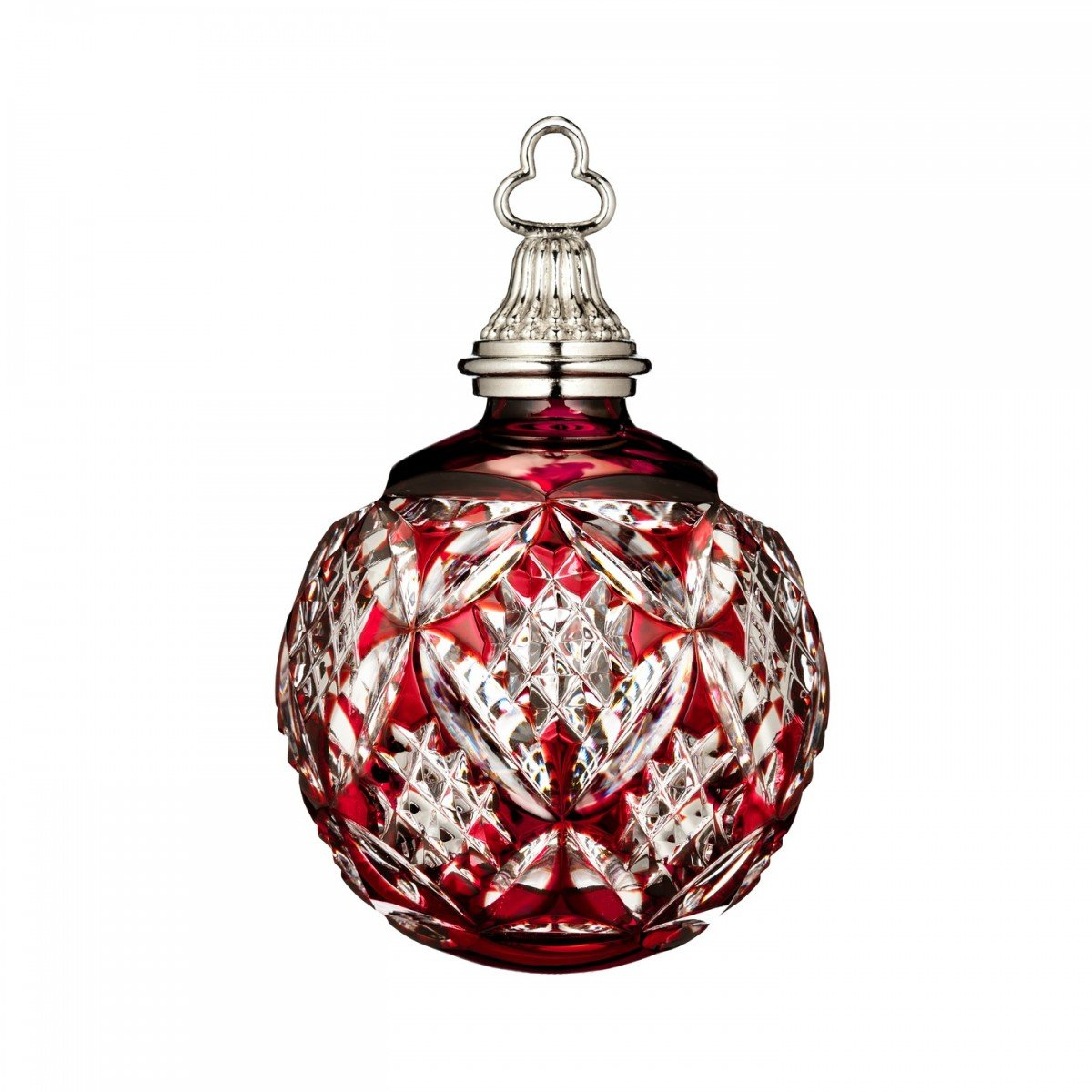 Waterford Annual Red Cased Ball Crystal Christmas Ornament