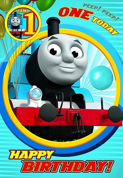 Thomas & Friends - Tarjeta de primer cumpleaños, diseño con ...