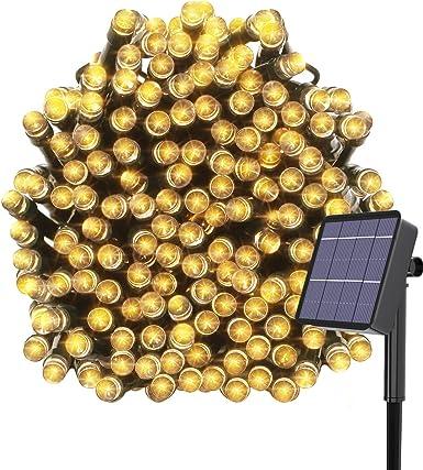 Kolpop Luces Exterior, Guirnalda Luces Exterior Solar, LED Solar ...