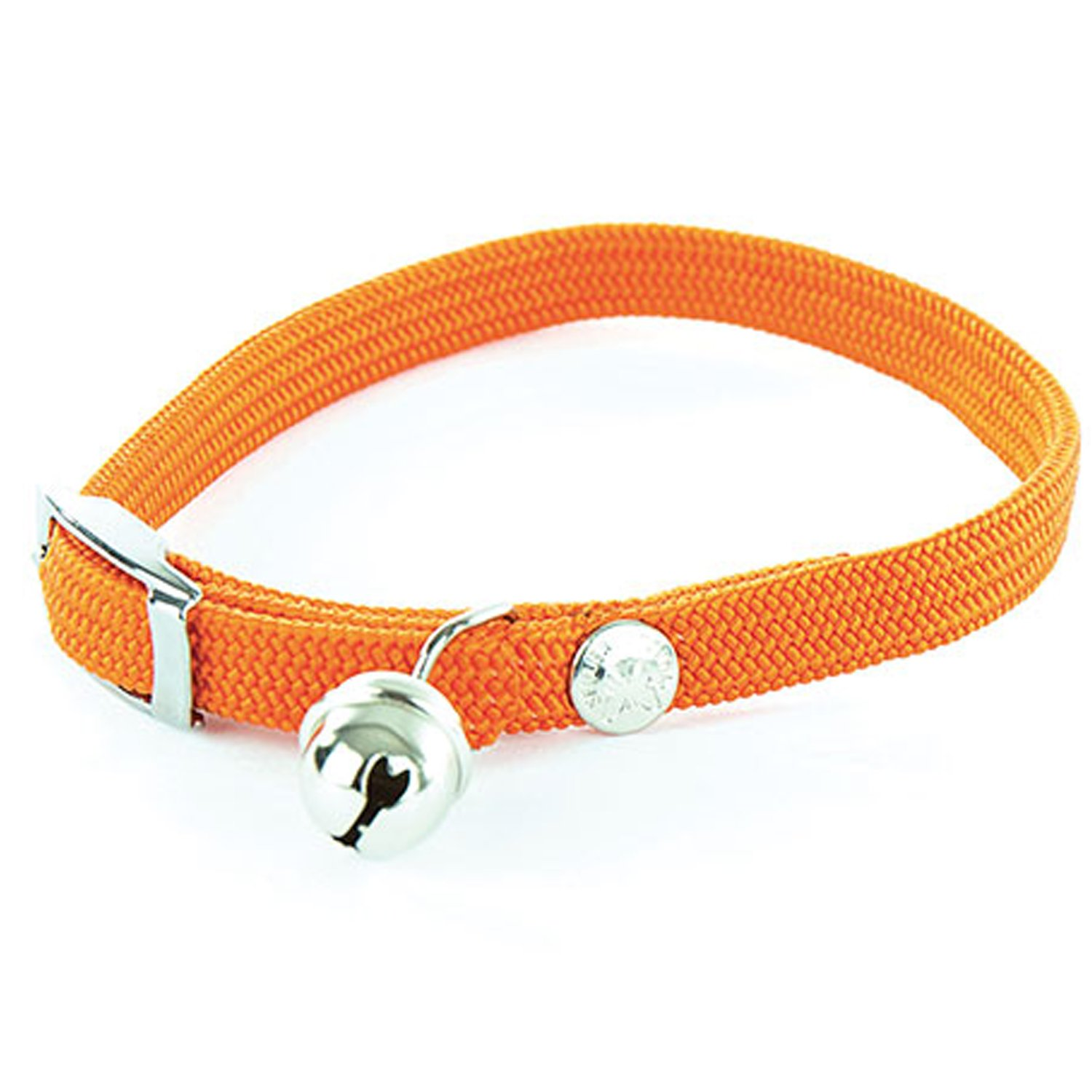 Collier chat nylon élastique - Orange Martin Sellier