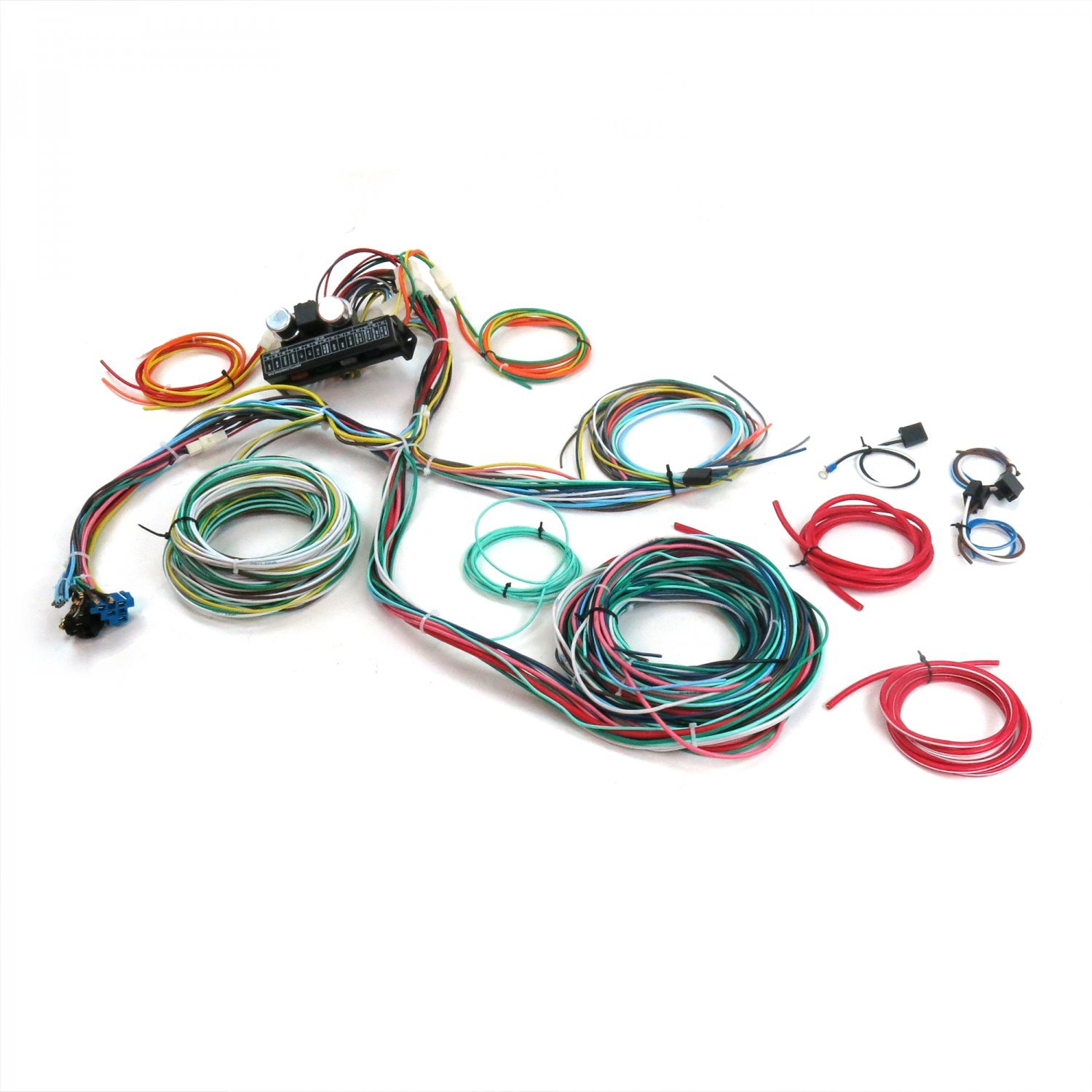 amazon com: keep it clean 689204 wiring harness (ultimate 15 fuse 12v  conversion 28 1928 model a pickup-flatback): automotive
