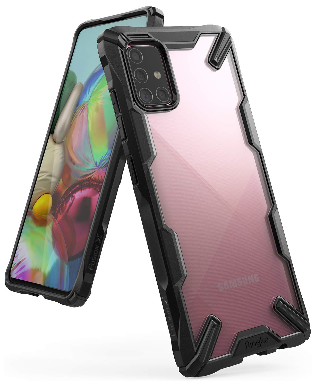 Funda Para Samsung A71 Ringke Fusion X Negra