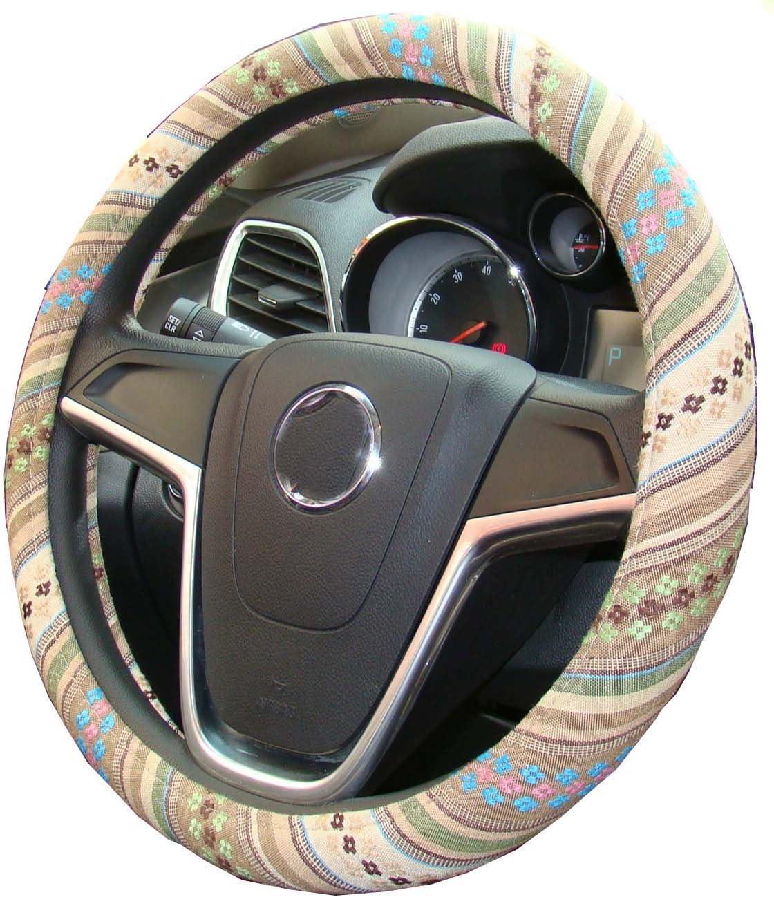 Mayco Bell 2018 Ethnischen Stil Grob Flachs Tuch Automotive Lenkradbezug Anti Slip Und Schweißabsorption Auto Auto Wrap Abdeckung H Auto