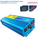 lvyuan Car Caravan RV Camping Boat 1500W / 3000W (Peak) Pure Sine Wave Power Inverter Soft Start 12V DC To 110V AC Converter With LCD Display