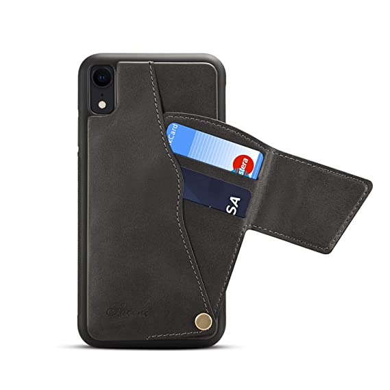 best sneakers 9c554 ffca3 iPhone XR Wallet Case, SUTENI iPhone XR Credit Card Slot Holder Case,  Leather Magnetic Closure Wallet Case for iPhone XR 6.1 inch with Gift Box  ...
