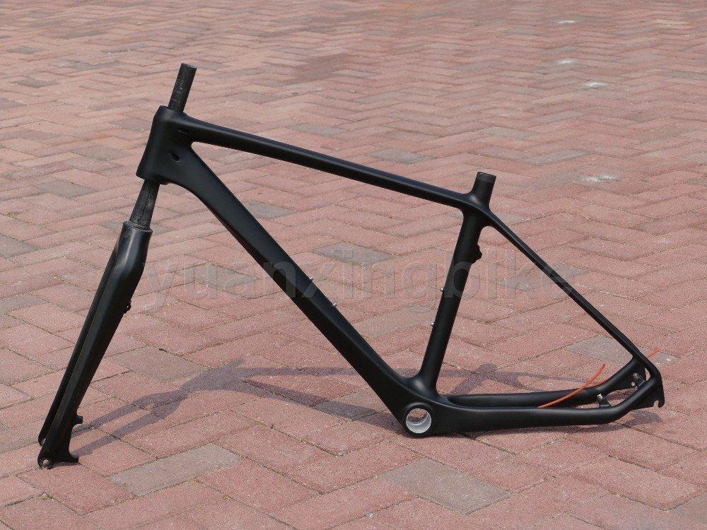 203# Toray Carbon MTB Frame Full Carbon UD Matt Mountain Bike 26ER BB30 Frame 16' Fork Headset